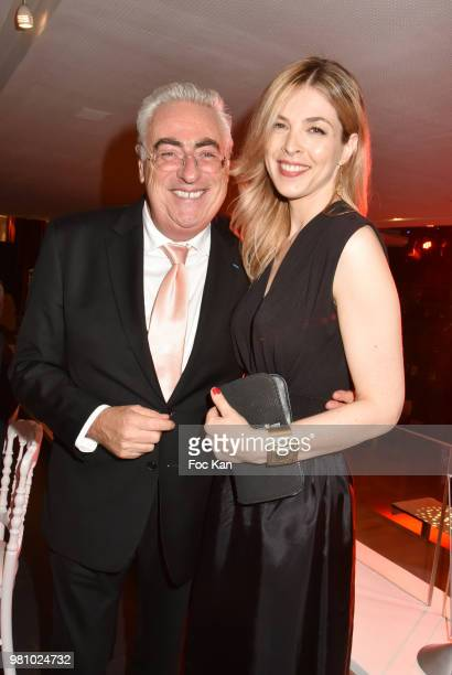 Jean Mchel Aubrun and TV presenter/singer Eleonore Boccara attend the Amnesty International 34 th Gala at Theatre Champs Elysees and after Party at...
