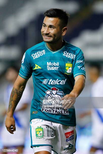 Jean Meneses of Leon reacts during the quarterfinals second leg match between Leon and Puebla as part of the Torneo Guard1anes 2020 Liga MX at Leon...