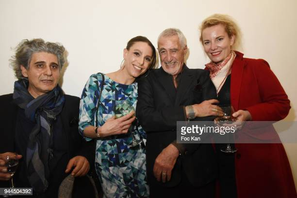Jean Merhi Sacha Lucas sculptor Stan Levy and Lorraine Motte attend the 'Bel RP' 10th Anniversary at Atelier Sevigne on April 10 2018 in Paris France