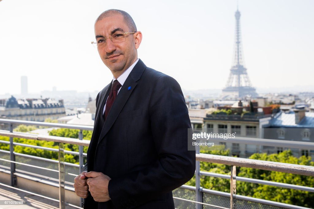 Jean Messiha, project coordinator for France's presidential candidate Marine Le Pen, poses for a photograph following a Bloomberg Television interview in Paris, France, on Friday, April 21, 2017. The murder of a policeman on the Champs-Elysees has forced an early end to campaigning for the leading candidates in France's presidential election as they head into Sundays first-round of voting with the race wide open. Photographer: Christophe Morin/Bloomberg via Getty Images