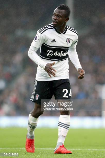 Jean Michael Seri of Fulham during the Premier League match between Fulham FC and Burnley FC at Craven Cottage on August 26 2018 in London United...