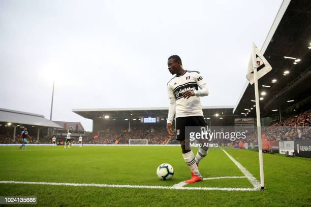 Jean Michael Seri of Fulham during the Premier League match between Fulham FC and Burnley FC at Craven Cottage on August 25 2018 in London United...