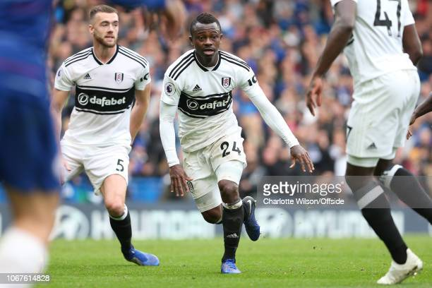 Jean Michael Seri of Fulham during the Premier League match between Chelsea FC and Fulham FC at Stamford Bridge on December 2 2018 in London United...
