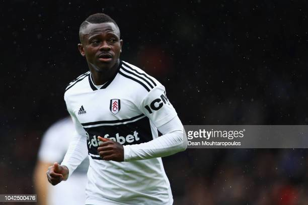 Jean Michael Seri of Fulham FC in action during the Premier League match between Fulham FC and Watford FC at Craven Cottage on September 22 2018 in...