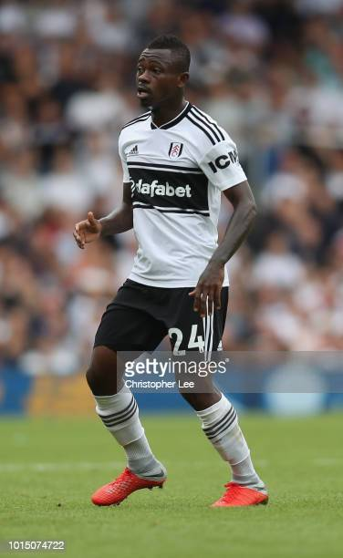Jean Michael Seri of Fulham in action during the Premier League match between Fulham FC and Crystal Palace at Craven Cottage on August 11 2018 in...