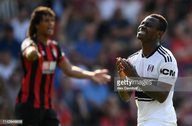 Jean Michael Seri of Fulham reacts after a missed chance during the Premier League match between AFC Bournemouth and Fulham FC at Vitality Stadium on...