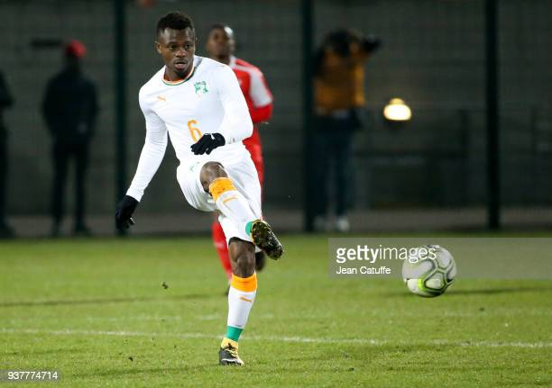Jean Michael Seri of Ivory Coast during the international friendly match between Togo and Ivory Coast at Stade Pierre Brisson on March 24 2018 in...