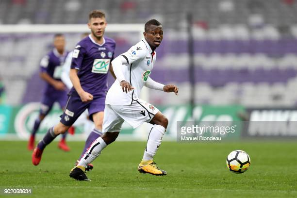 Jean Michael Seri of Nice during the french National Cup match between Toulouse and Nice on January 6 2018 in Toulouse France