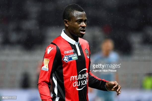 Jean Michael Seri of Nice during the League Cup match between Nice and Monaco at Allianz Riviera Stadium on January 9 2018 in Nice France