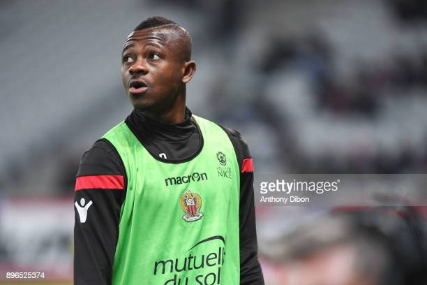 Jean Michael Seri of Nice during the Ligue 1 match between Lille OSC and OGC Nice at Stade Pierre Mauroy on December 20 2017 in Lille