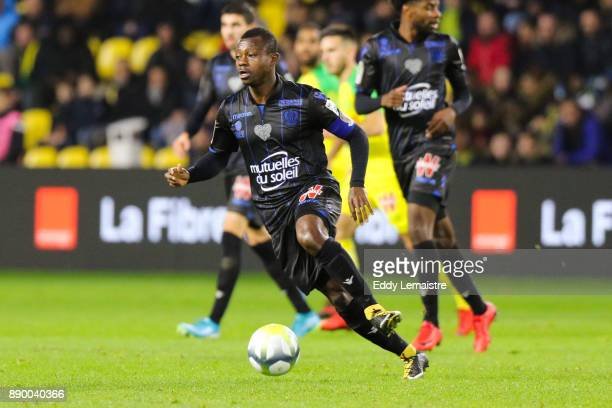 Jean Michael Seri of Nice during the Ligue 1 match between Nantes and OGC Nice at Stade de la Beaujoire on December 10 2017 in Nantes