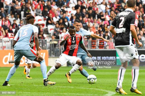 Jean Michael Seri of Nice during the Ligue 1 match between OGC Nice and AS Monaco at Allianz Riviera on September 9 2017 in Nice