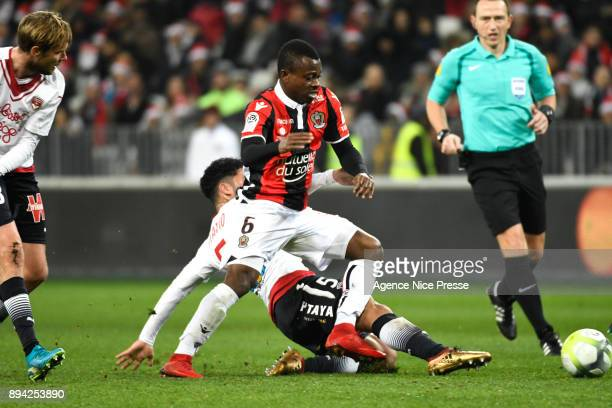 Jean Michael Seri of Nice during the Ligue 1 match between OGC Nice and FC Girondins de Bordeaux at Allianz Riviera on December 16 2017 in Nice