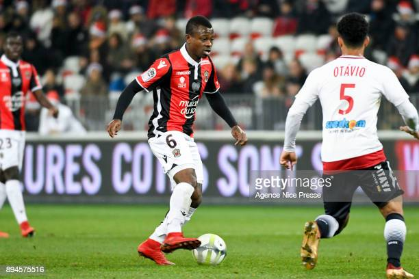 Jean Michael Seri of Nice during the Ligue 1 match between OGC Nice and FC Girondins de Bordeaux at Allianz Riviera on December 17 2017 in Nice
