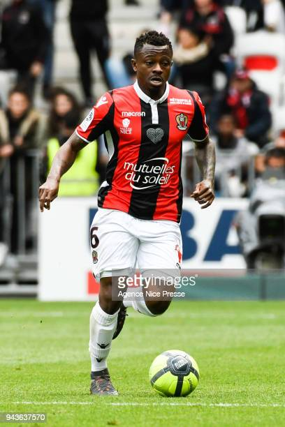 Jean Michael Seri of Nice during the Ligue 1 match between OGC Nice and Stade Rennes at Allianz Riviera on April 8 2018 in Nice