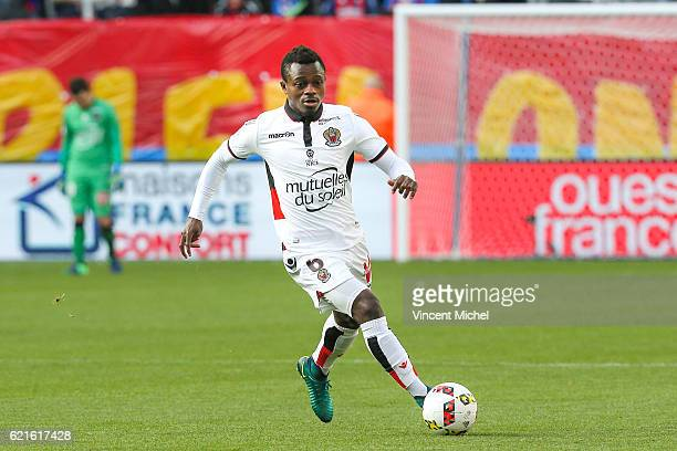 Jean Michael Seri of Nice during the Ligue 1 match between SM Caen and OGC Nice at Stade Michel D'Ornano on November 6 2016 in Caen France