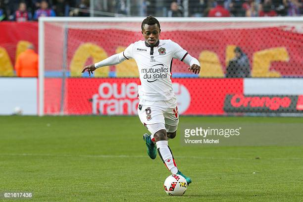 Jean Michael Seri of Nice during the Ligue 1 match between SM Caen and OGC Nice at Stade Michel D'Ornano on November 6, 2016 in Caen, France.