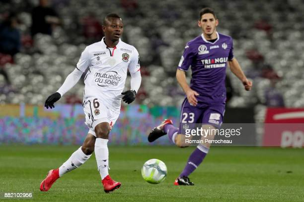 Jean Michael Seri of Nice in action during the Ligue 1 match between Toulouse and OGC Nice at Stadium Municipal on November 29 2017 in Toulouse