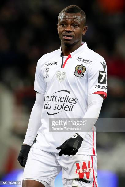 Jean Michael Seri of Nice looks on during the Ligue 1 match between Toulouse and OGC Nice at Stadium Municipal on November 29 2017 in Toulouse