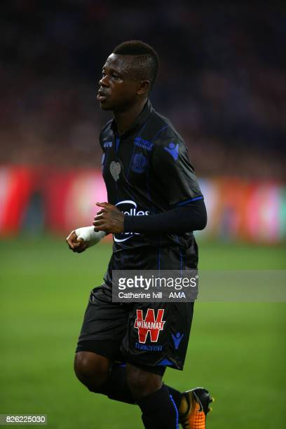 Jean Michael Seri of OGC Nice during the UEFA Champions League Qualifying Third Round match between Ajax and OSC Nice at Amsterdam Arena on August 2...