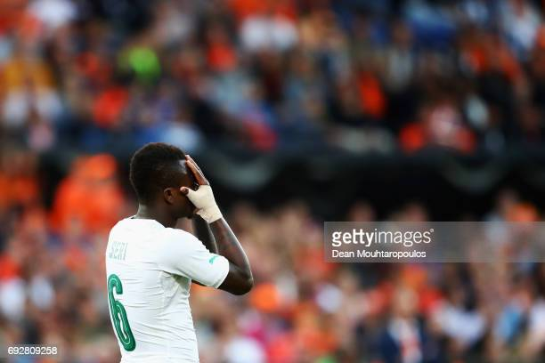 Jean Michael Seri of the Ivory Coast reacts to a missed chance on goal during the International Friendly match between the Netherlands and Ivory...