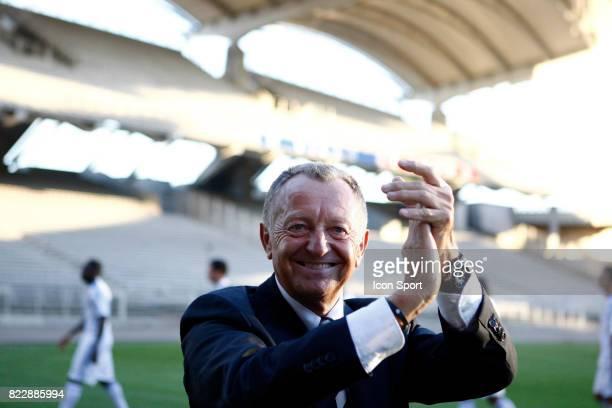 Jean Michel AULAS Nouvelle recrue de Lyon Presentation au Stade de Gerland