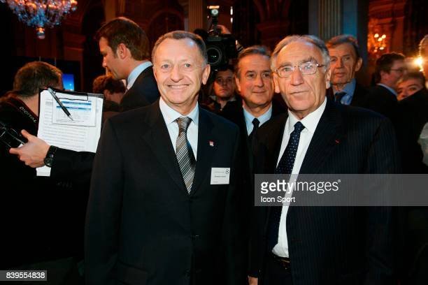Jean Michel AULAS et Jean Pierre ESCALETTES Tirage au sort de la Champions League Mairie de Paris