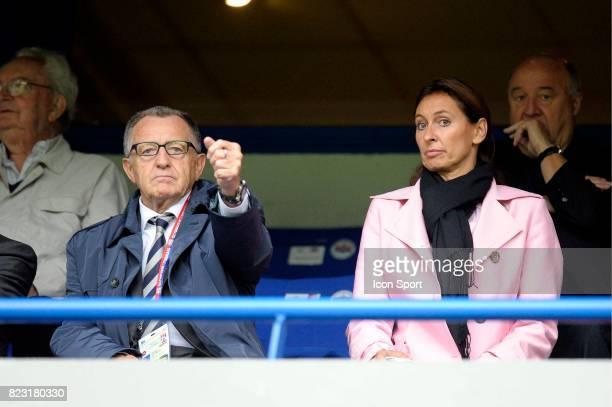 Jean Michel AULAS et sa femme Caen / Lyon 7e journee de Ligue 1