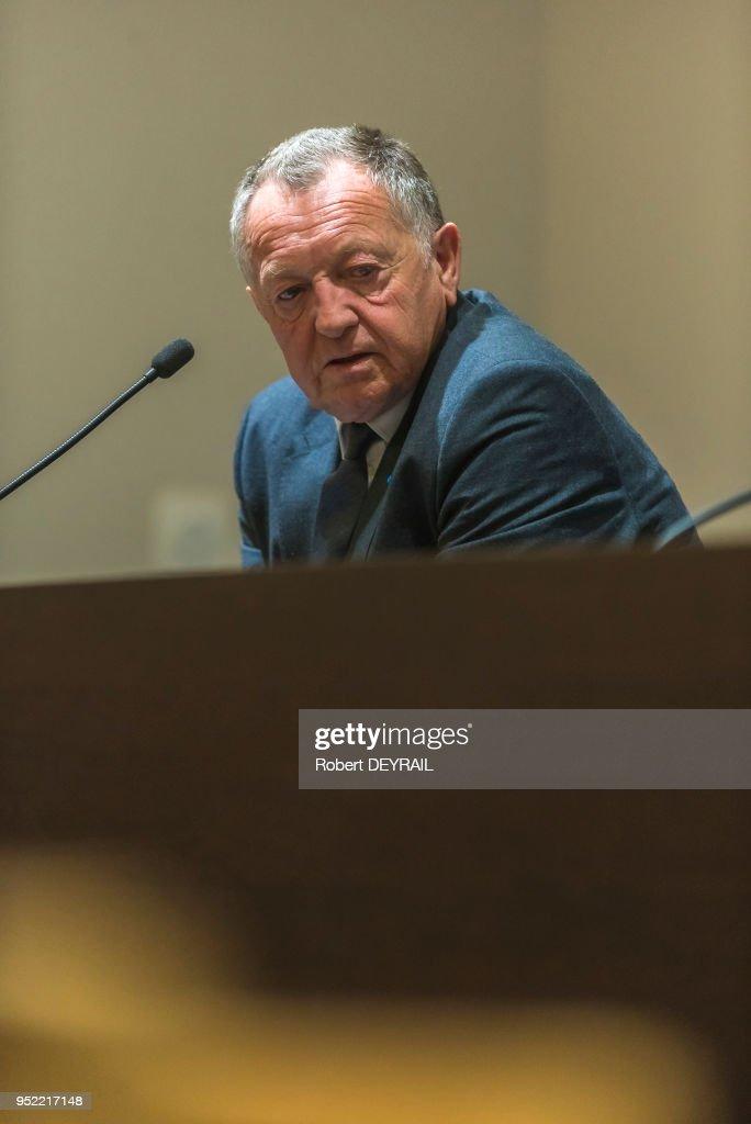 Jean Michel Aulas Président Olympique Lyonnais : News Photo