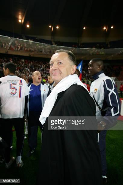 Jean Michel AULAS Victoire et 5eme titre pour Lyon Paris Saint Germain / Lyon 35eme journee de Ligue 1