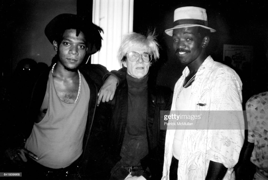 Jean Michel Basquiat, Andy Warhol, Fred Braithwaite (Fab Five Freddy) : News Photo