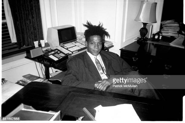 Jean Michel Basquiat at the surprise birthday party for Susanne Bartsch at the Rainbow Roof at Steven Greenberg's office 30 Rockefeller Plaza...