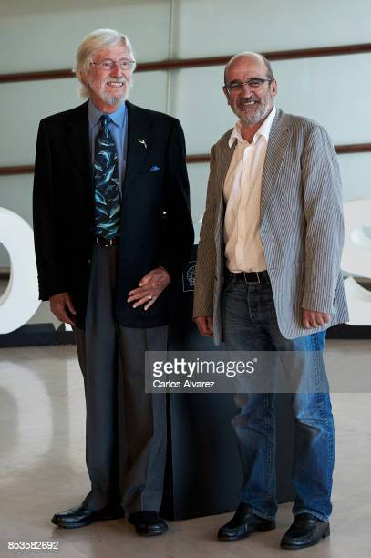 Jean Michel Cousteau and Jean Jacques Mantello attend the 'Wonder Of The Sea 3D' photocall at the Kursaal Palace during the 65th San Sebastian...