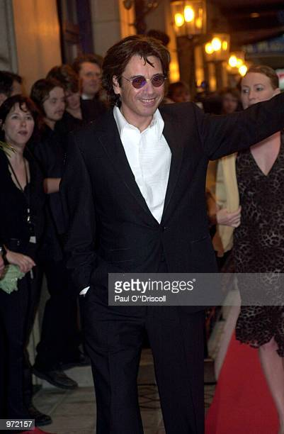 Jean Michel Jarre arrives at the International Federation of Phonographic Industries fourth annual Platinum Europe Awards July 10 2002 in Brussels...