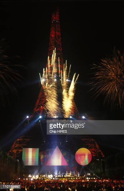 Jean Michel Jarre 'Concert pour la tolerance' giant show around the Eiffel Tower in Paris France on July 14 1995
