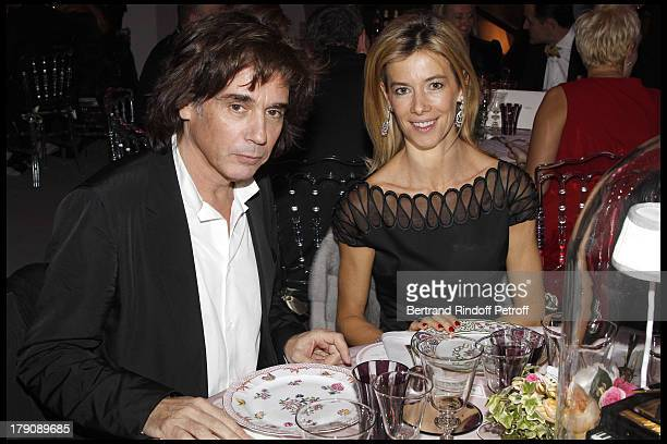 Jean Michel Jarre Madame Brice Hortefeux at The Dior Jewellry Boutique Party at Place Vendome In Paris
