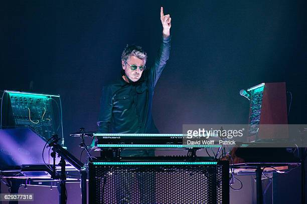 Jean Michel Jarre performs at AccorHotels Arena on December 12 2016 in Paris France