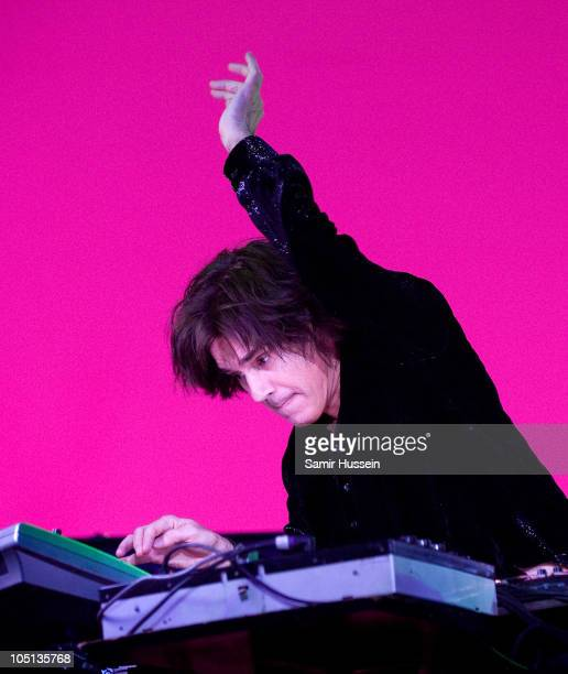 Jean Michel Jarre performs at the 02 Arena on October 10 2010 in London England