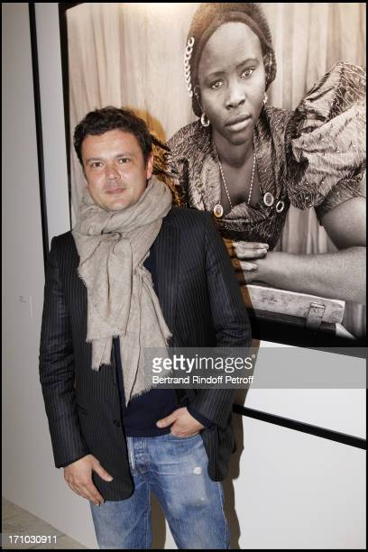 Jean Michel Othoniel at Every Journey Began In Africa Party For The Exhibition Africa Rising And The Discovery Of The Collaboration Between Edun And...