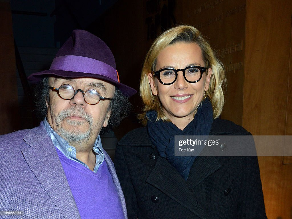 Jean Michel Ribes and Laurence Ferrari attend 'Mariage Pour Tous' at Theatre du Rond-Point on January 27, 2013 in Paris, France.