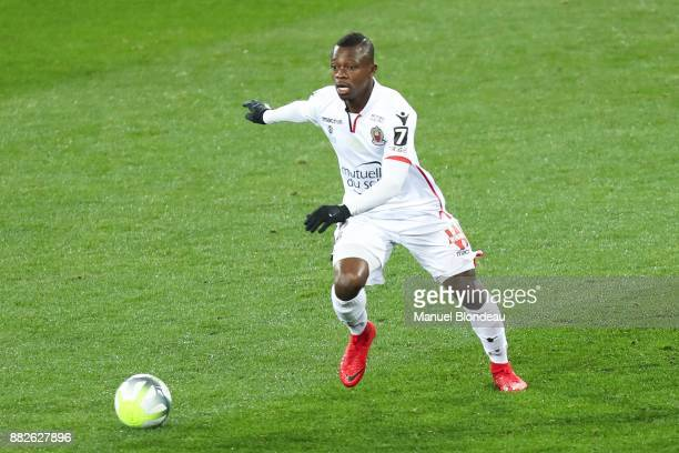 Jean Michel Seri of Nice during the Ligue 1 match between Toulouse and OGC Nice at Stadium Municipal on November 29 2017 in Toulouse