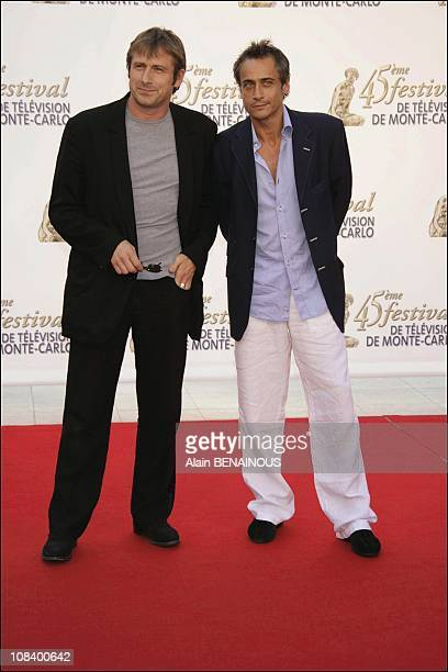 Jean Michel Tinivelli and Bernard Yerles of the new police series of TF1 'Rose and Val' in Monaco on June 30 2005