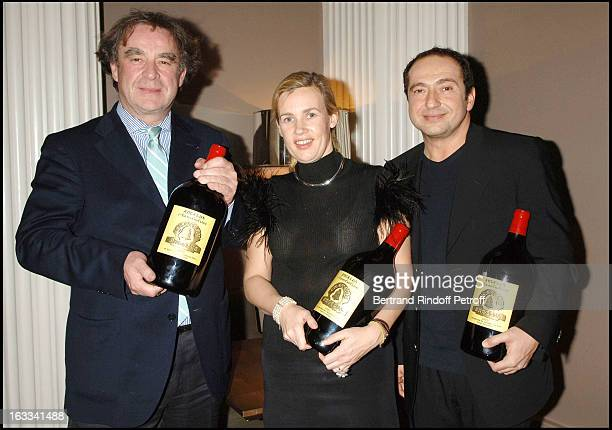 Jean Michel Wilmotte Helene Darroze and Patrick Timsit at The Second Series Of Des Trois Coups De L' Angelus At Restaurant Apicius