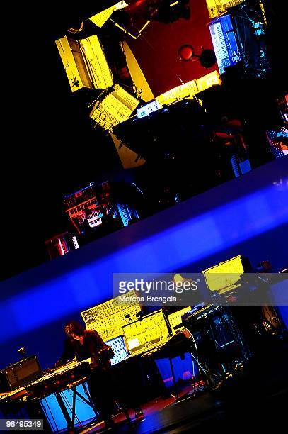 Jean Michelle Jarre performs at Arcimboldi's theatre on November 07 2008 in Milan Italy