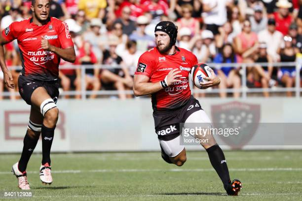 Jean Monribot of Toulon during the Top 14 match between RC Toulon and Pau at Felix Mayol Stadium on August 27 2017 in Toulon France