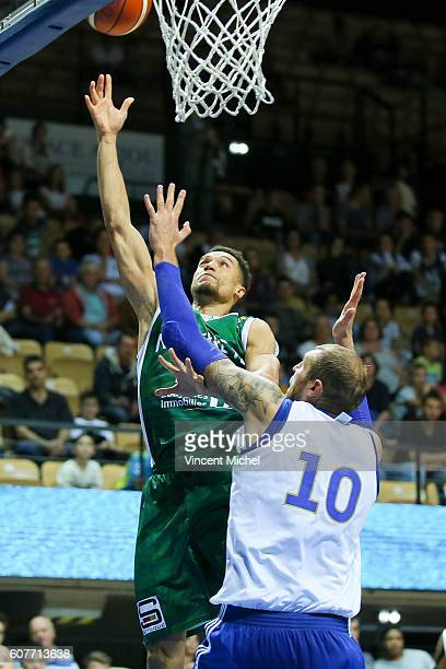 Jean Morency of Nanterre during the match for the 3rd and 4th place between Nanterre and Khimki Moscow at Tournament ProStars at Salle Arena Loire on...