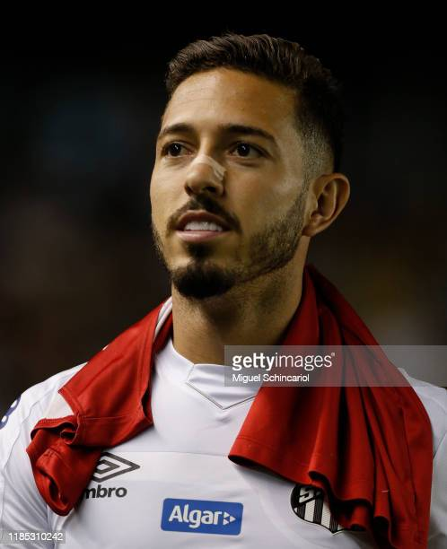 Jean Mota of Santos looks on before a match between Santos and Botafogo for the Brasileirao Series A 2019 at Vila Belmiro Stadium on November 03 2019...