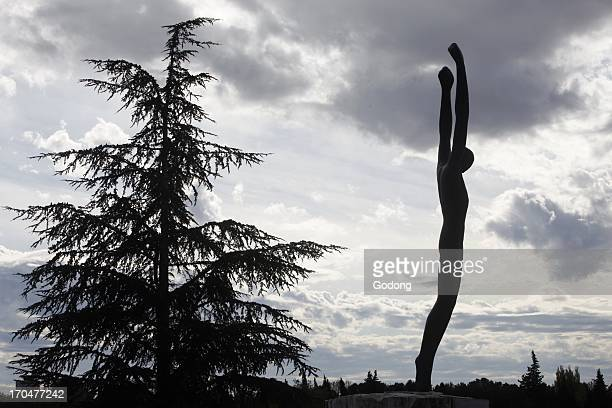 Jean Moulin memorial in Provence Sculpture by Marcel Courbier SalonDeProvence France