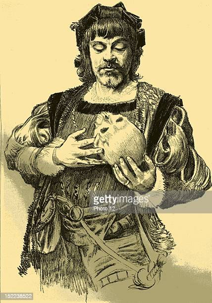 Jean MounetSully as Hamlet French actor and tragedian Engraving
