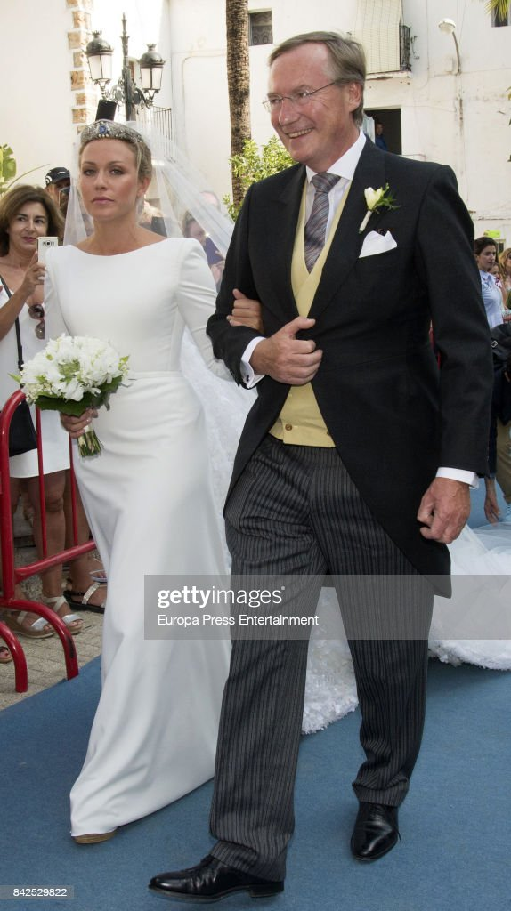 Jean of Luxemburgo, are seen attending the wedding of Marie-Gabrielle of Nassau and Antonius Willms on September 2, 2017 in Marbella, Spain.